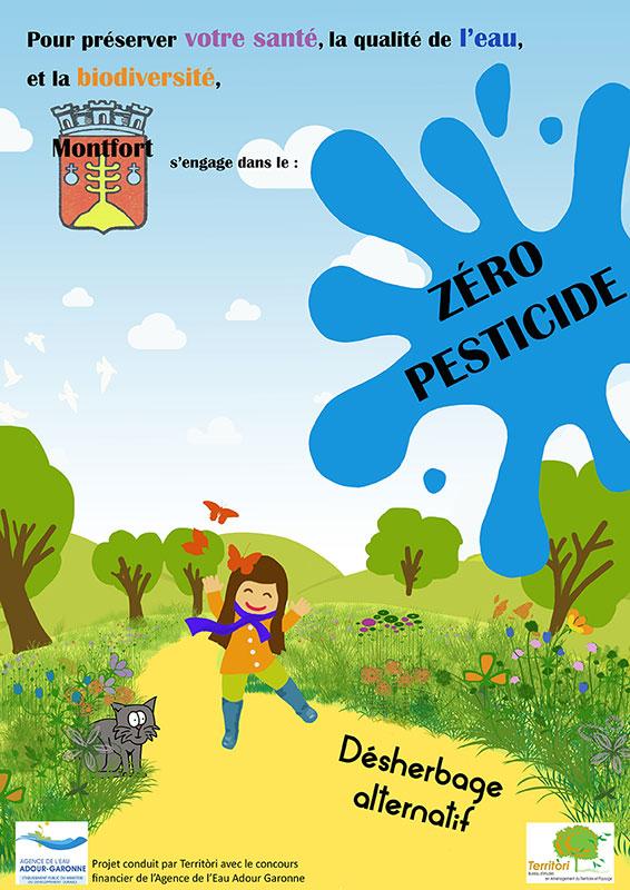 Affiche Zéro Pesticides ©