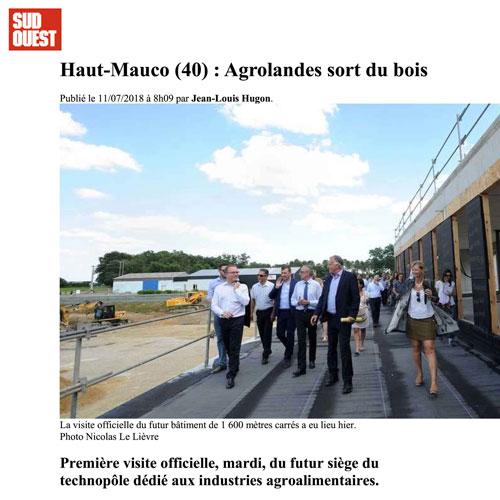 Haut-Mauco (40) : Agrolandes sort du bois