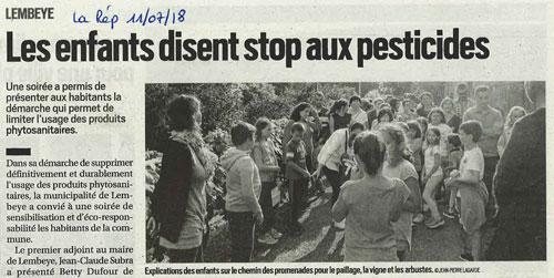 Les enfants disent stop aux pesticides